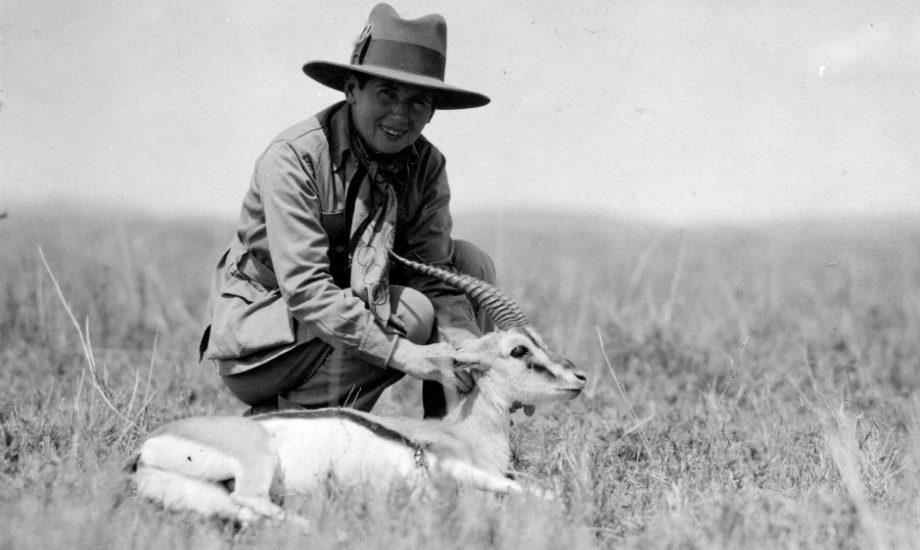 Pauline on Safari